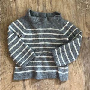 Crewcuts Wool Ruffle Neck Sweater Girls